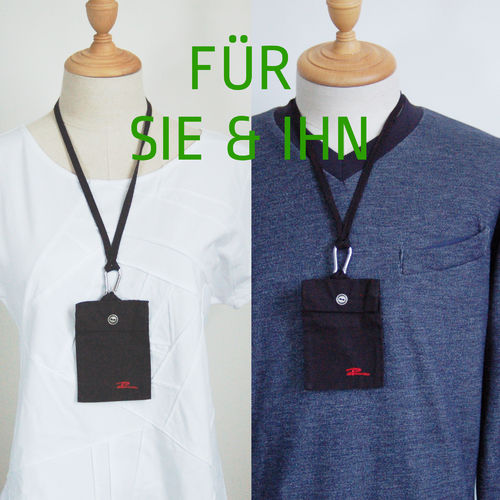 "Mundmaskentasche ""Black"" [unisex, one size]"